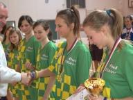 10.3.2012 Liga žákyň, vítězky soutěže, Lužice